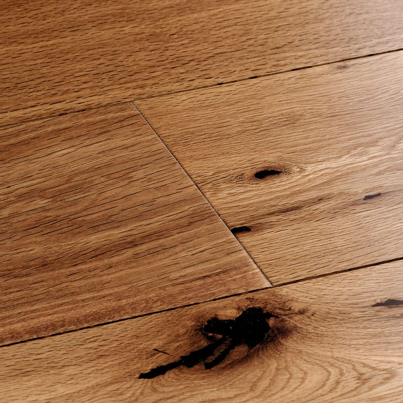 smoked oak wood flooring swatch