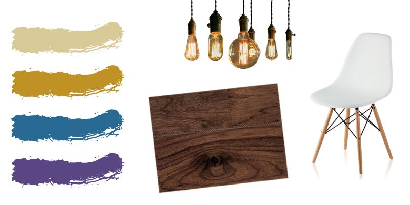 walnut flooring moodboard