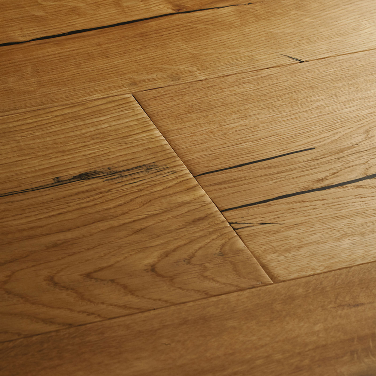 Natural oak distressed wood flooring woodpecker flooring for Natural oak wood flooring
