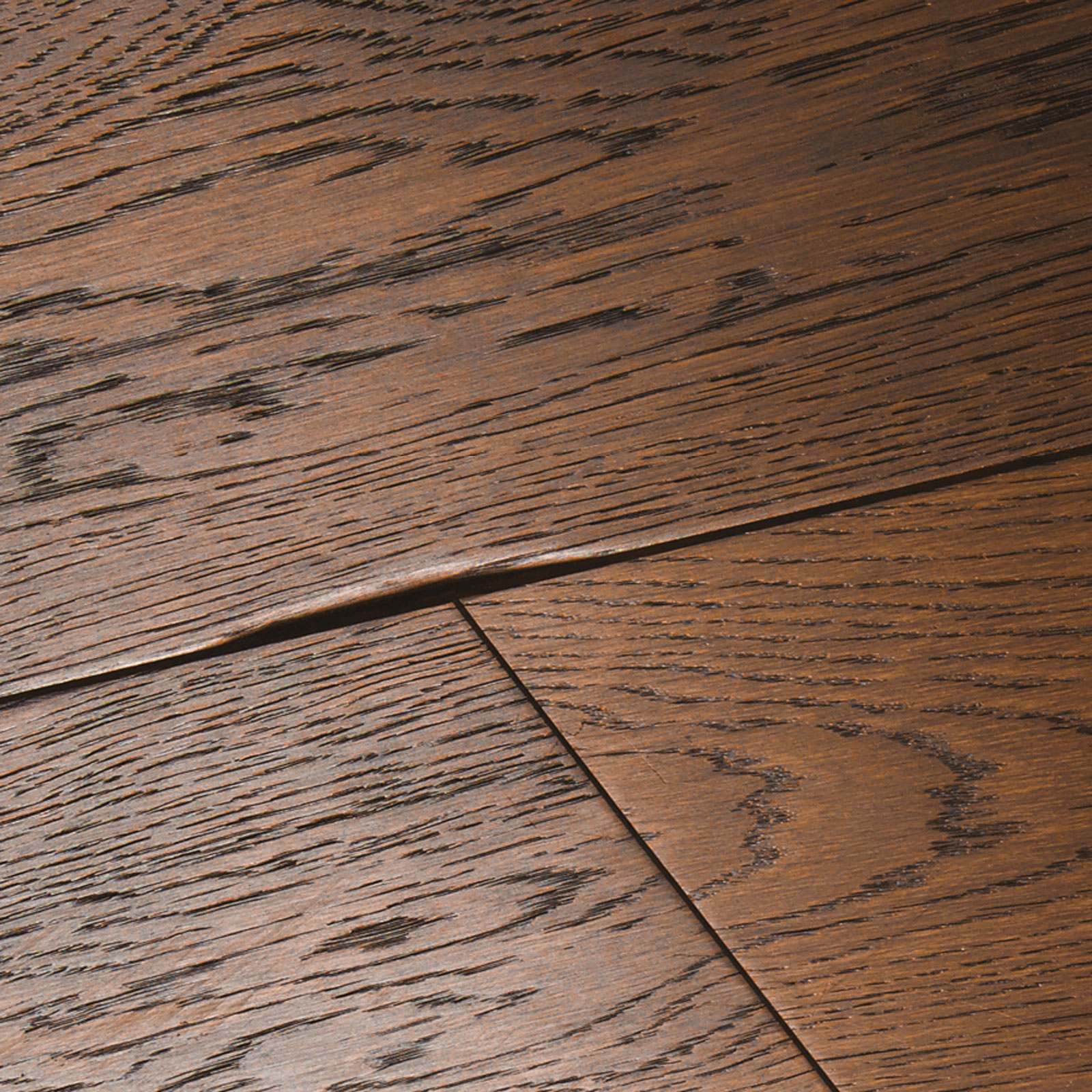 Chepstow Distressed Charcoal Oak Flooring Woodpecker
