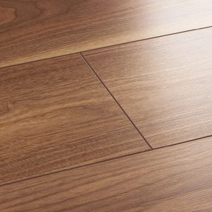 wembury warm walnut laminate flooring swatch