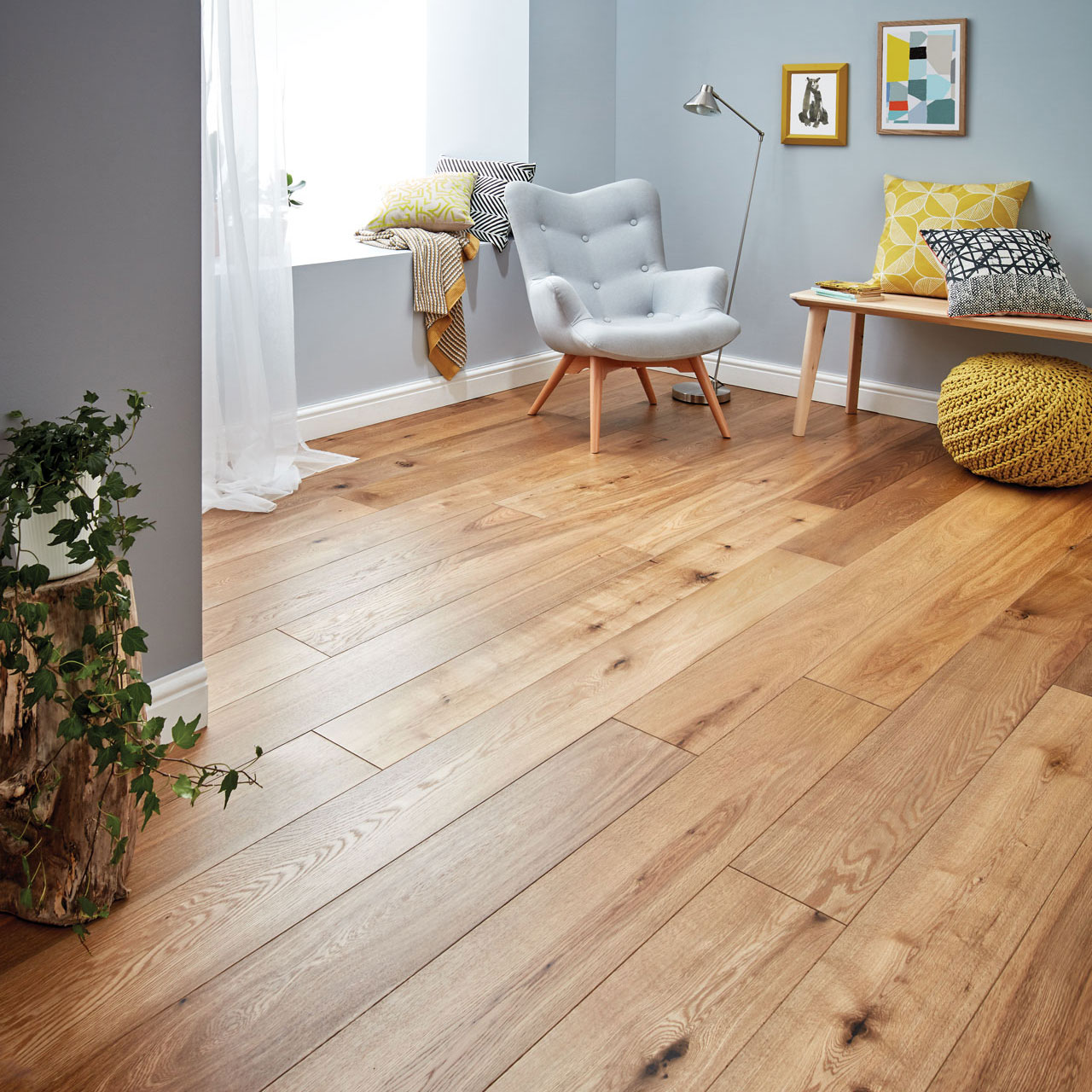 Harlech smoked oak flooring woodpecker flooring for Engineered oak flooring