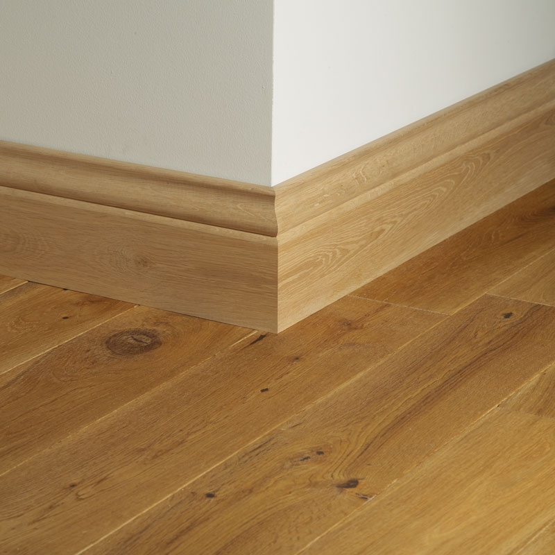 Oak veneer skirting board woodpecker flooring for Hardwood skirting