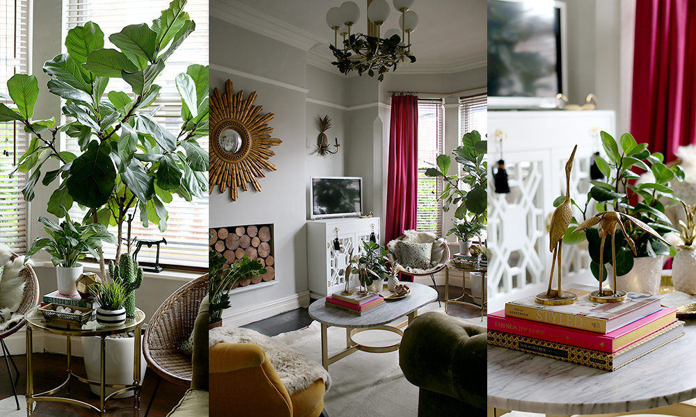 eclectic boho glam living room 3
