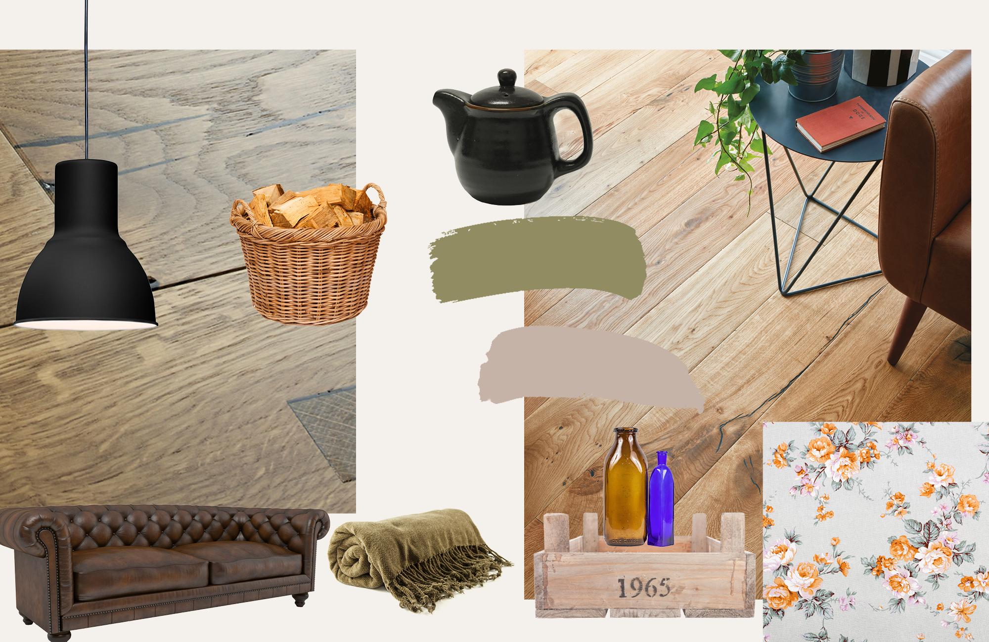reclaimed wood flooring traditional charm moodboard