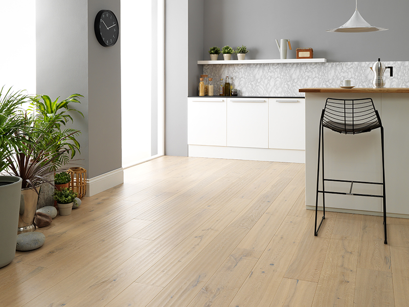 Light U0026 Lively With Antiqued White Wood FloorinG