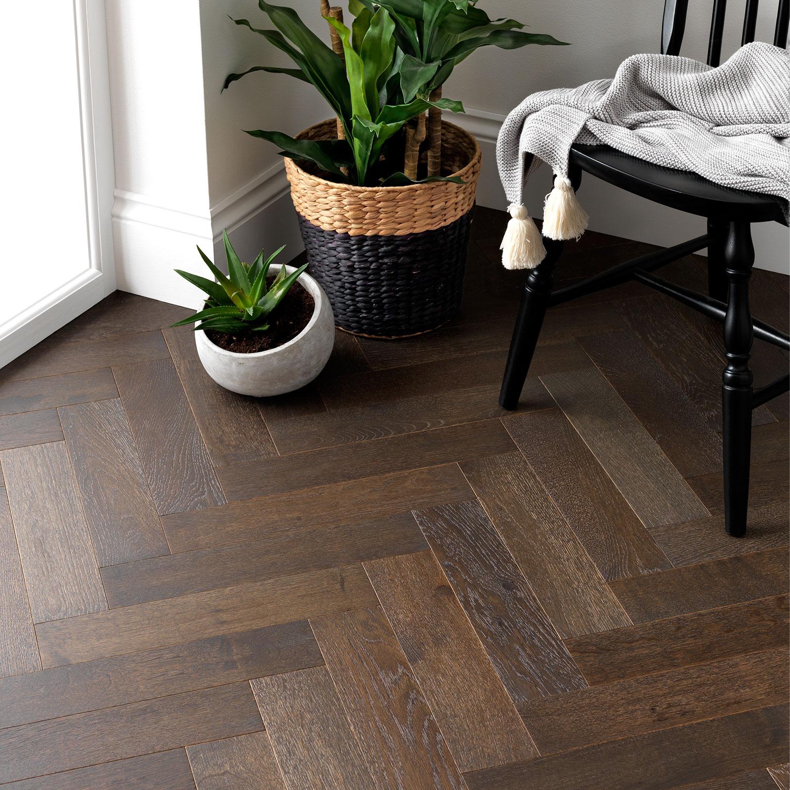 Goodrich Espresso Oak Parquet Flooring Woodpecker Flooring