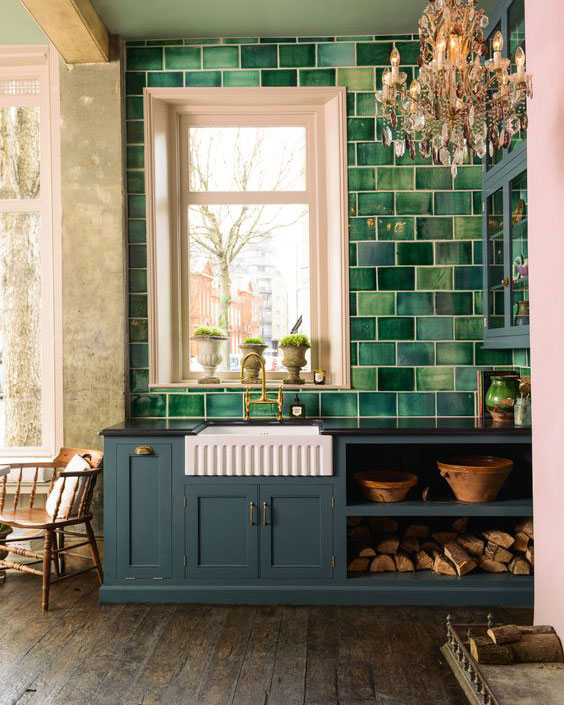 2018 home design colourful kitchens