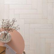 white parquet flooring goodrich cotton oak