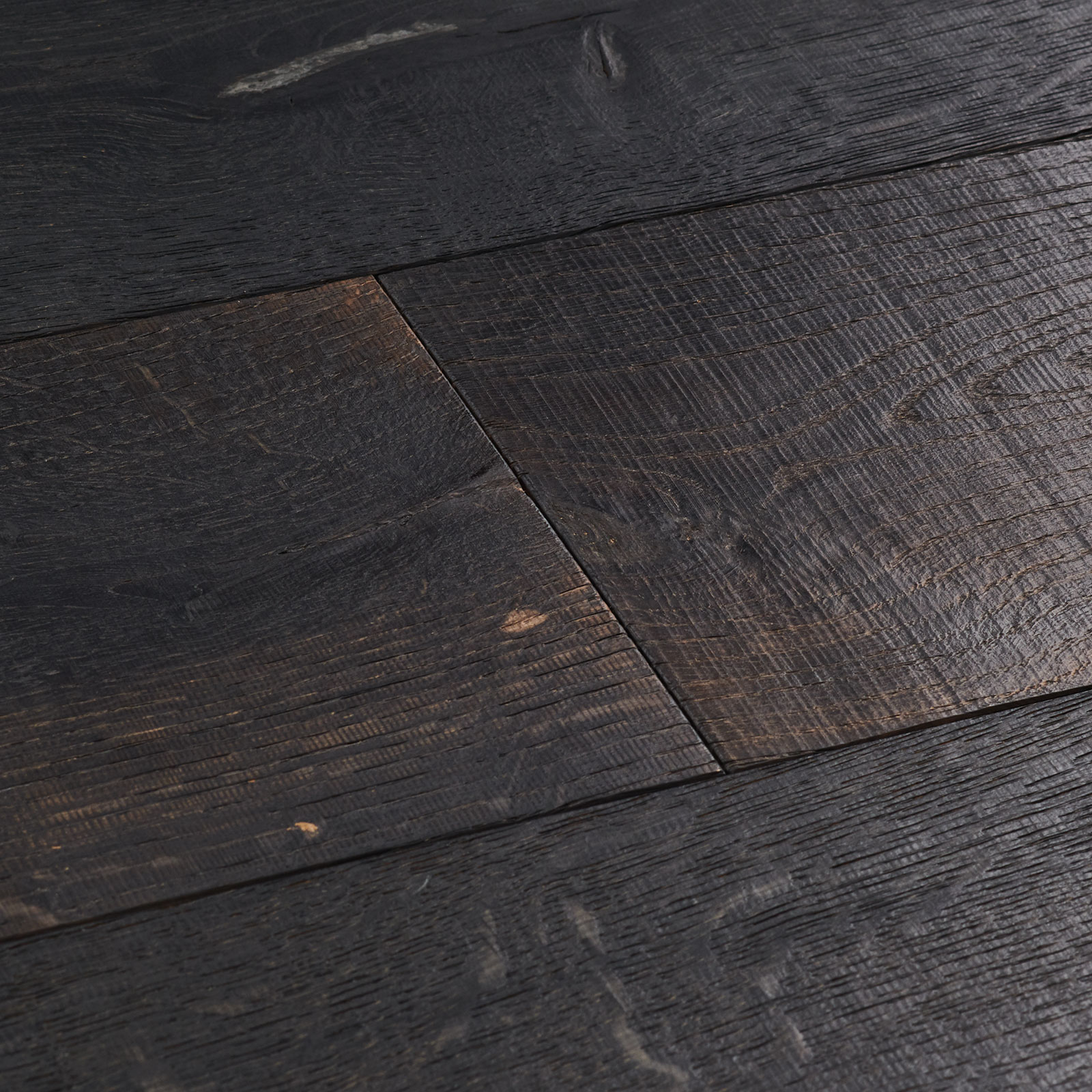black reclaimed wood flooring cellar oak swatch