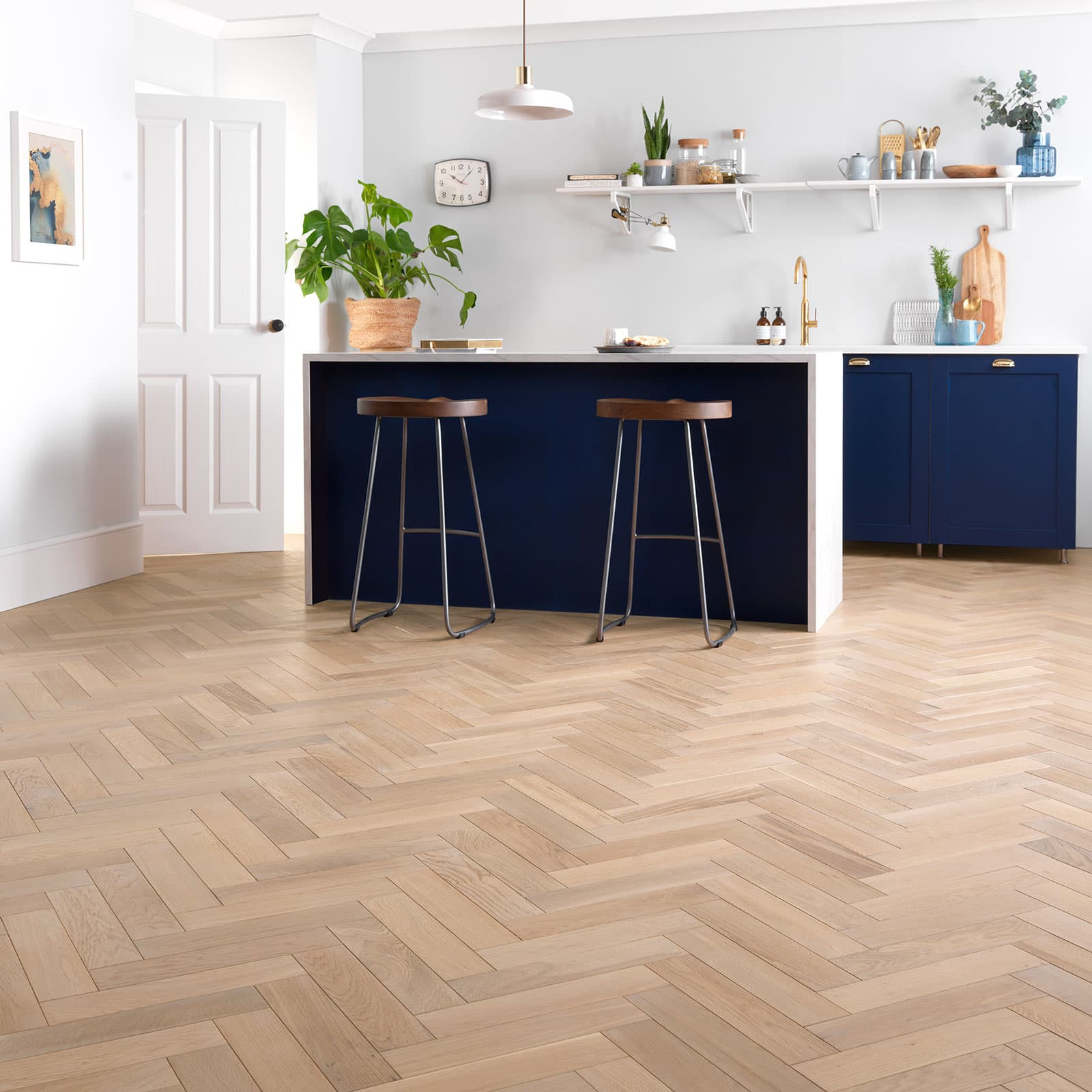 goodrich ecru oak kitchen parquet flooring