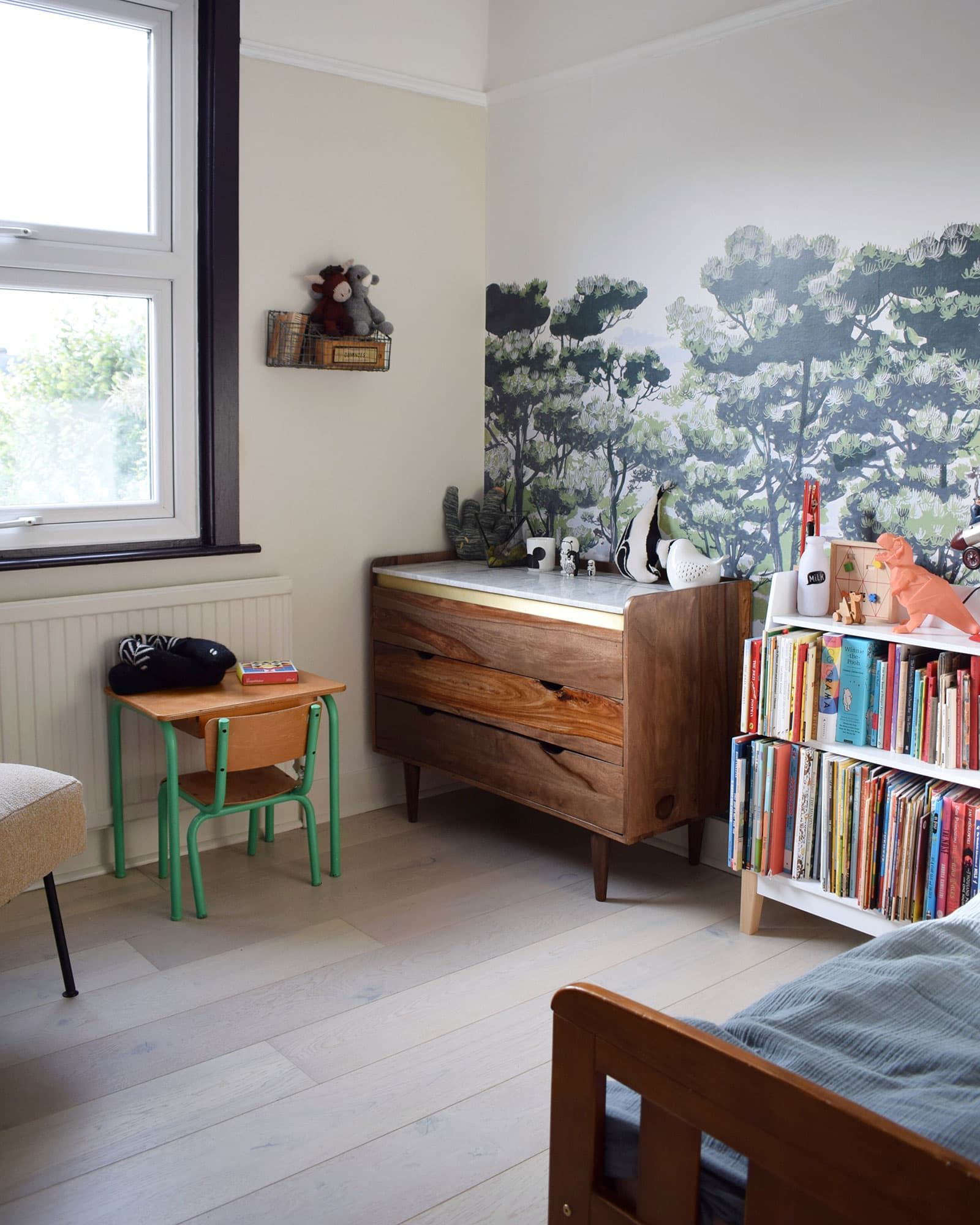 childrens bedroom in scandinavian style