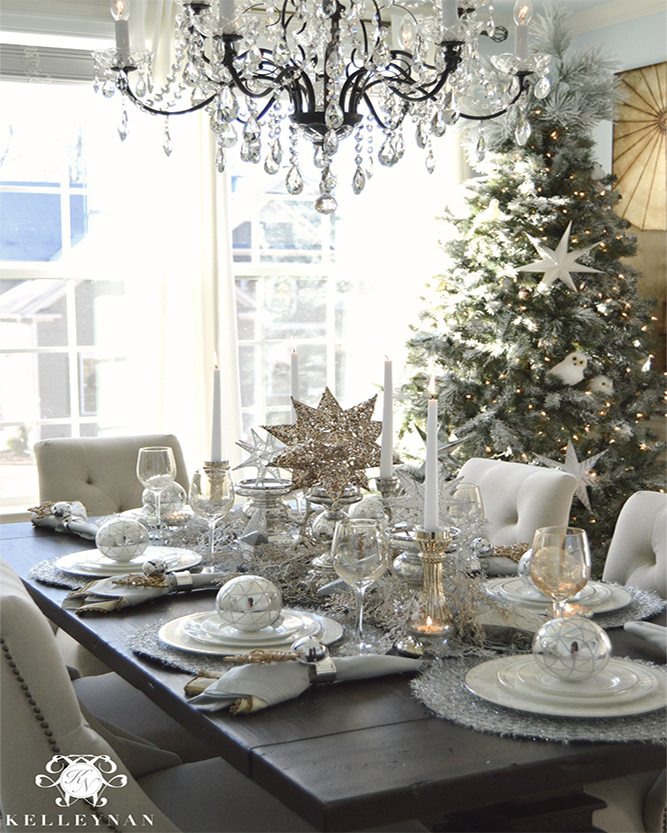 Cool Christmas Table Decor Styles Woodpecker Flooring Home Interior And Landscaping Eliaenasavecom