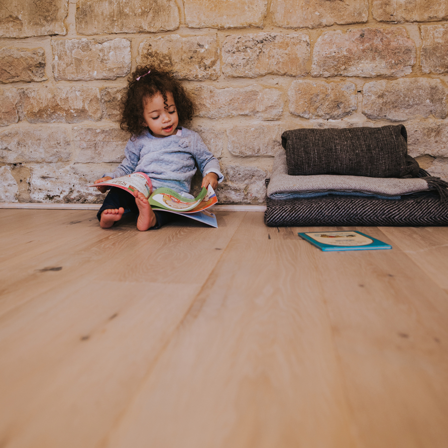 wood flooring with children and pets