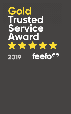 Winners of the Feefo Gold Trusted Service Award
