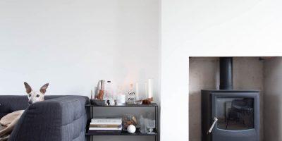 Modern Grey Herringbone In a Beautifully Minimal Home
