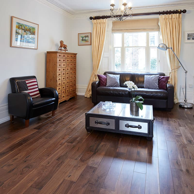 walnut flooring living room