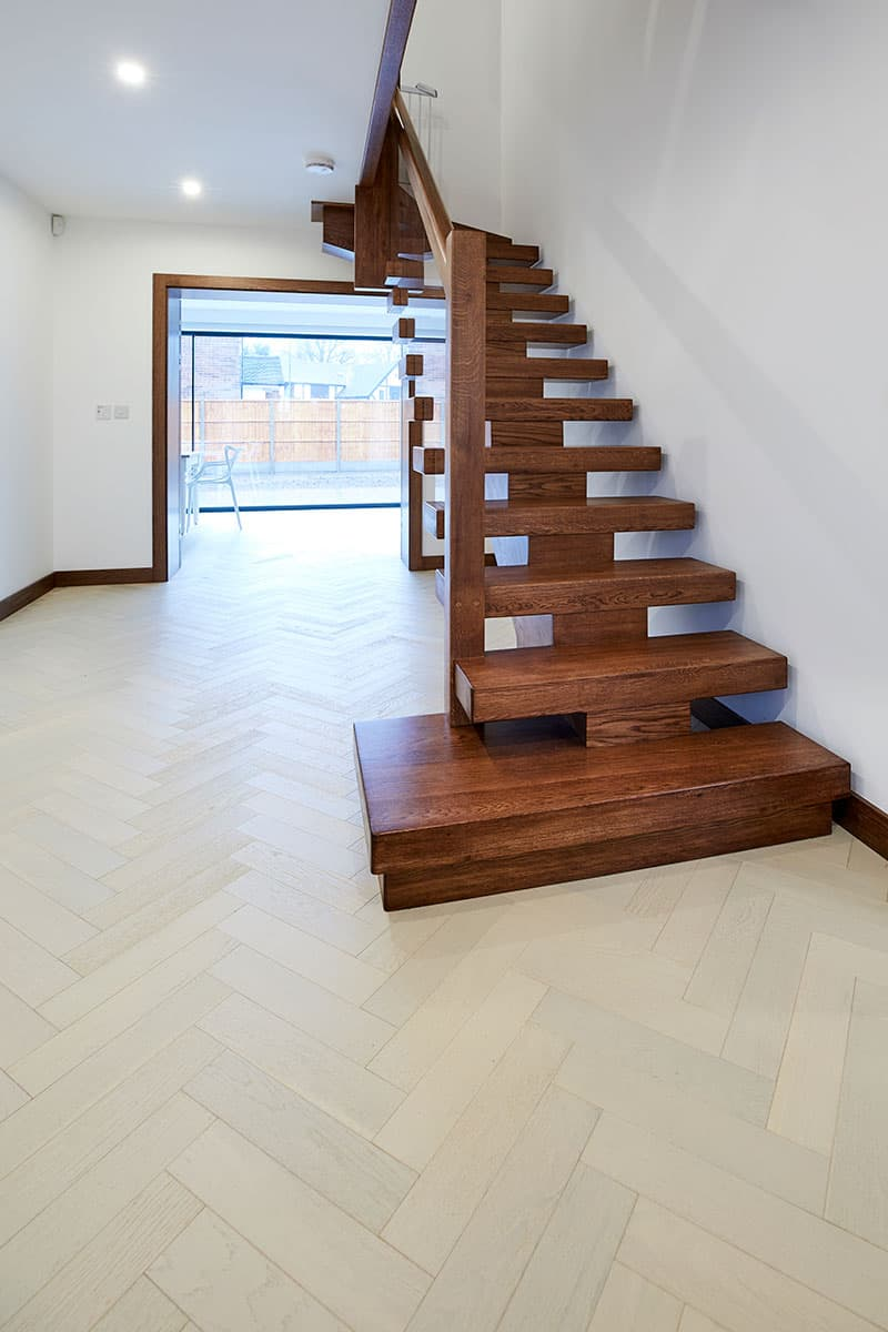 white oak flooring in hallway