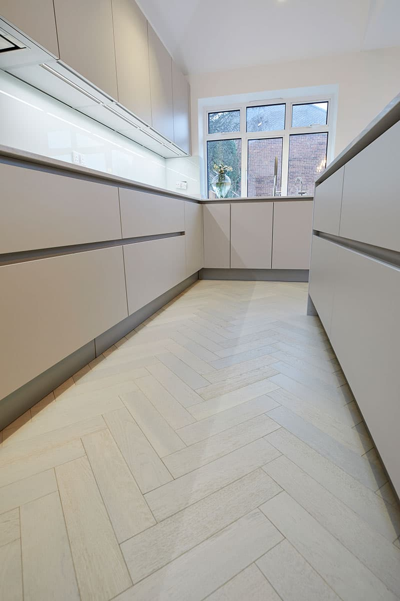 white oak flooring in kitchen