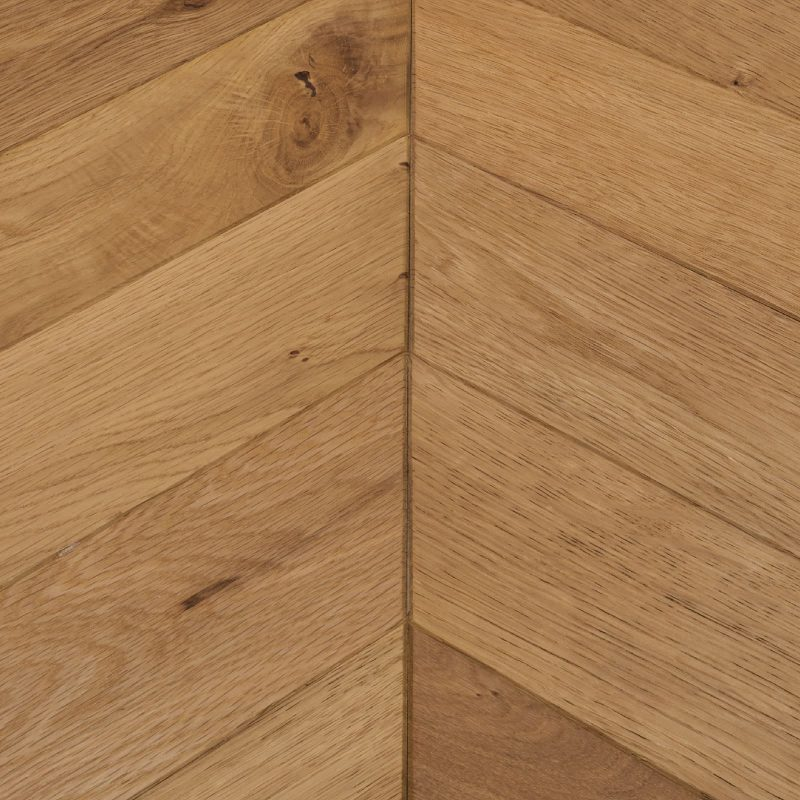 natural oak chevron flooring