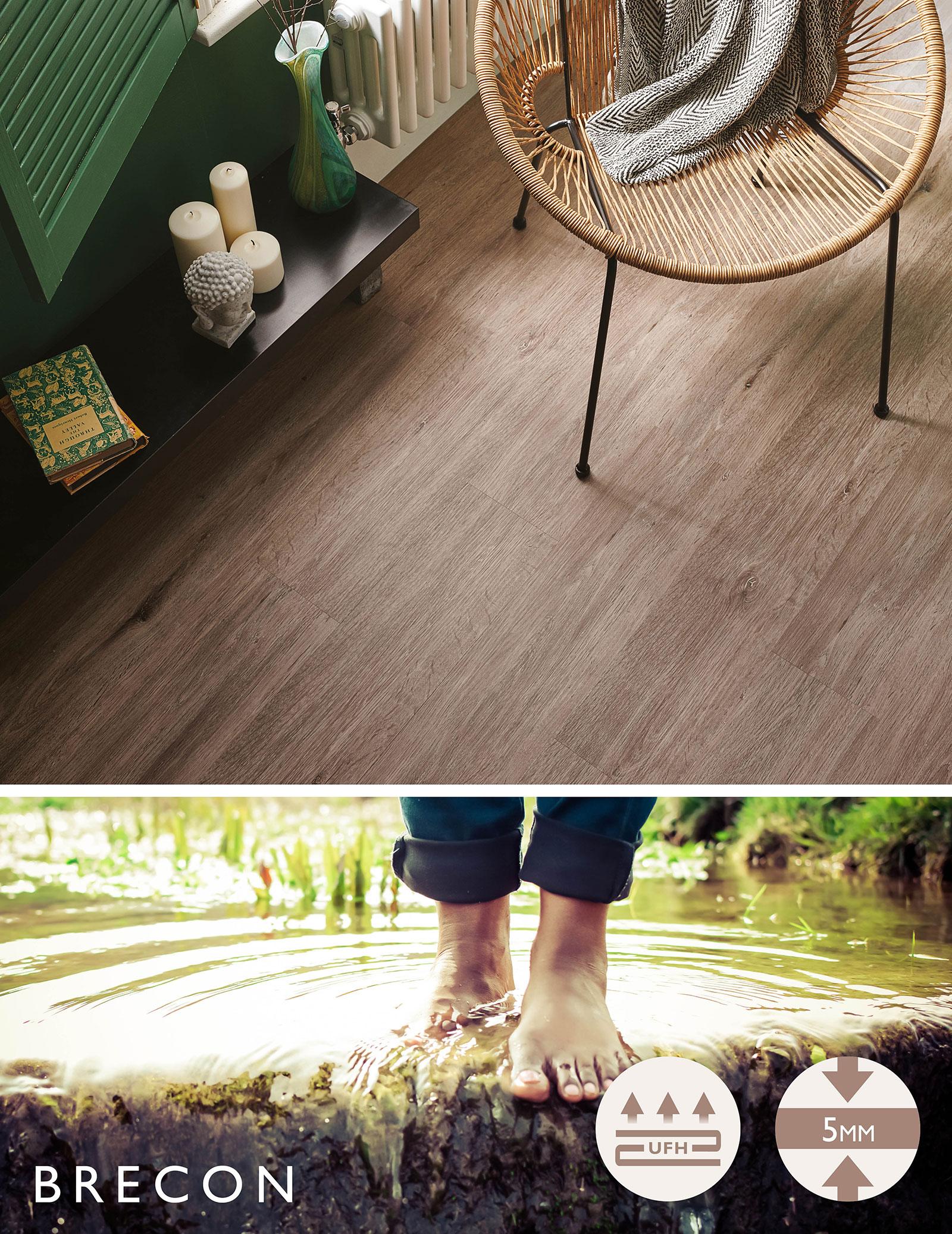 brecon water resistant laminate flooring