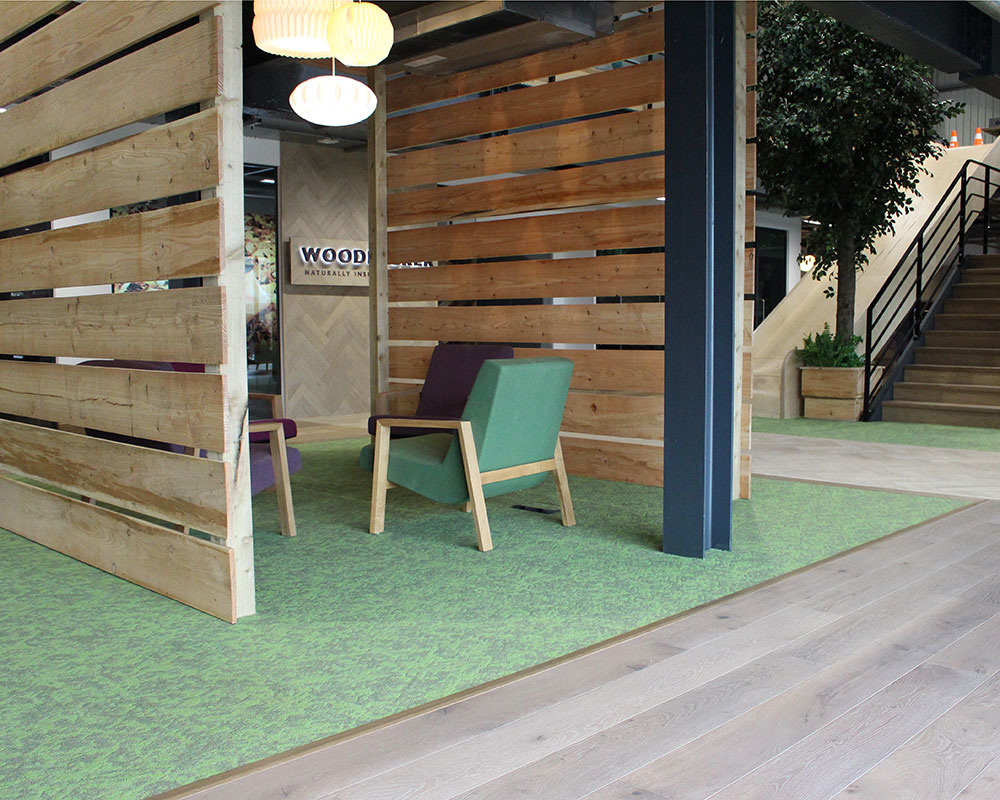 wood flooring and carpet