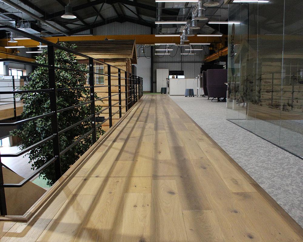 wood flooring walkway