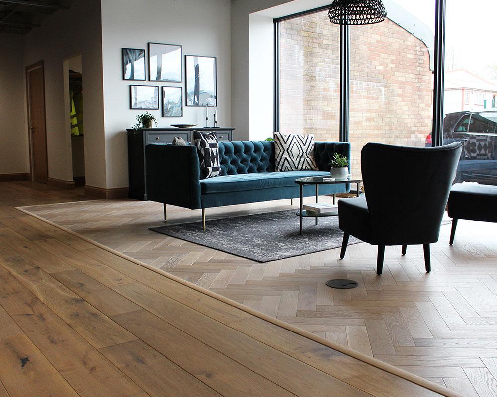 wood flooring reception