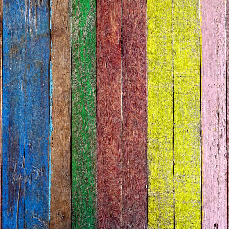 painted wood boards
