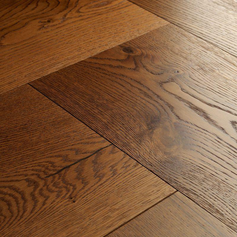 smoked oak parquet flooring swatch