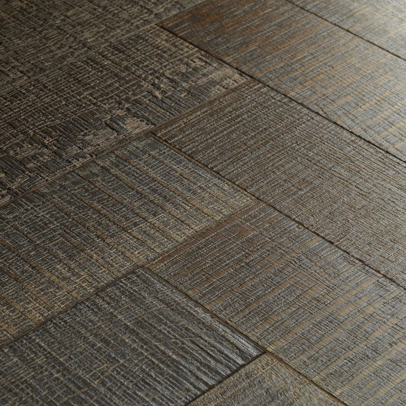 truffle oak parquet flooring swatch
