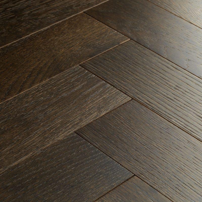 espresso oak parquet flooring swatch