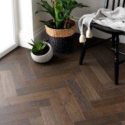 espresso oak parquet flooring image